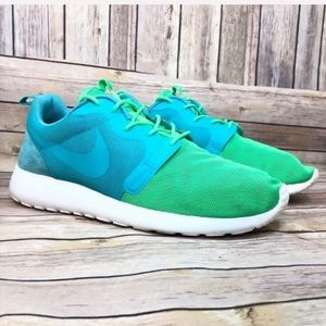 Nike RosheRun Hype QS turquoise blue sneakers 12